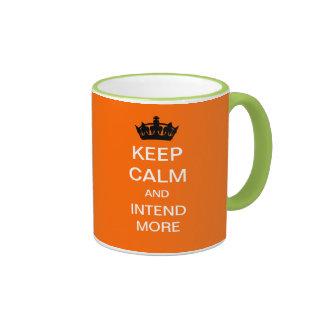 KEEP CALM And Intend More Mug (Orange)