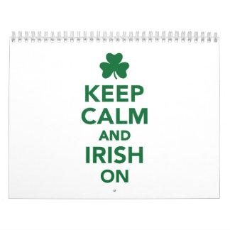 Keep calm and irish on calendars