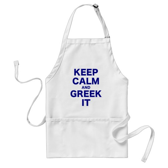 Keep Calm and It Adult Apron
