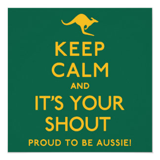 Keep Calm and It's Your Shout! Card