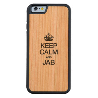 KEEP CALM AND JAB CARVED® CHERRY iPhone 6 BUMPER CASE