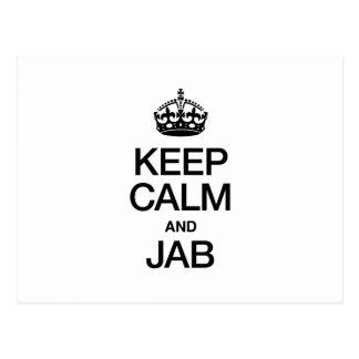 KEEP CALM AND JAB POSTCARD