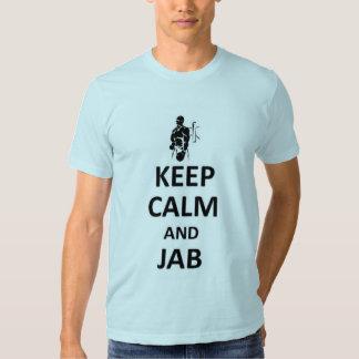 Keep calm and jab tshirt