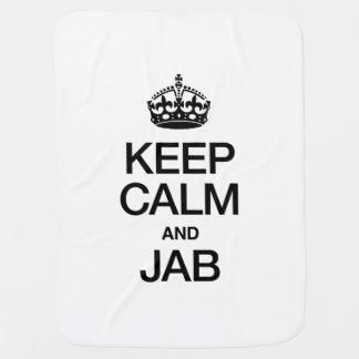 KEEP CALM AND JAB SWADDLE BLANKET