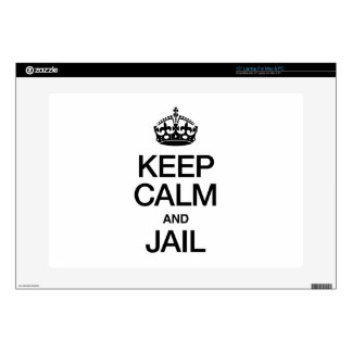 KEEP CALM AND JAIL LAPTOP SKINS