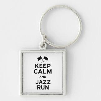 Keep Calm and Jazz Run Keychain