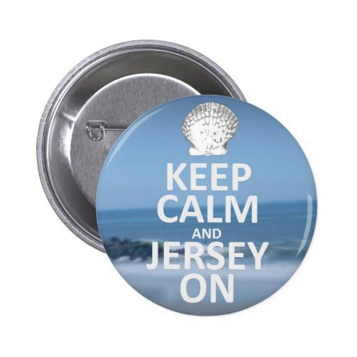 Keep Calm and Jersey On 2 Inch Round Button