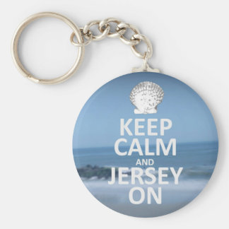 Keep Calm and Jersey On Keychain