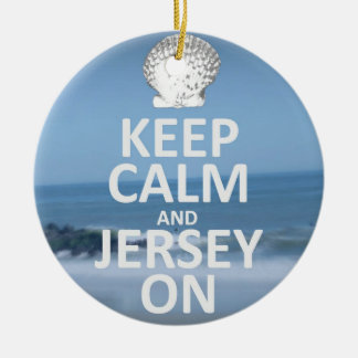 Keep Calm and Jersey On Ornament