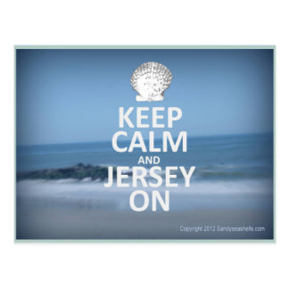 Keep Calm and Jersey On Postcard