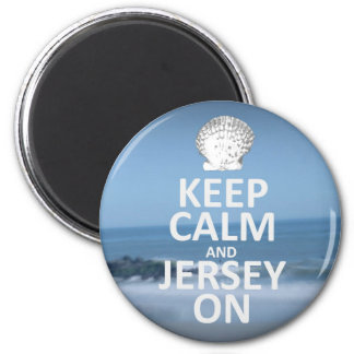 Keep Calm and Jersey On Sticker 2 Inch Round Magnet