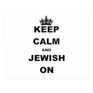 KEEP CALM AND JEWISH  ON POSTCARD