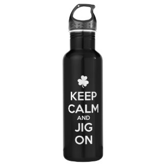 KEEP CALM and JIG ON - Irish Dance Stainless Steel Water Bottle