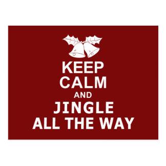 Keep Calm And Jingle All The Way Postcard