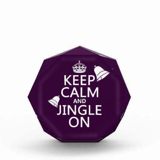 Keep Calm and Jingle On Acrylic Award