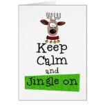 Keep Calm and Jingle On! Cards