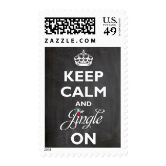 Keep Calm and Jingle On Chalkboard Holiday Stamps