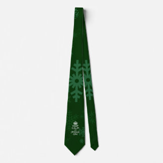 Keep Calm And Jingle On Green Neck Tie