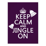 Keep Calm and Jingle On Personalized Invites