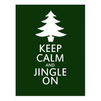 Keep calm and Jingle On Postcard