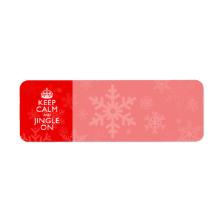 Keep Calm And Jingle On Red Decor Label