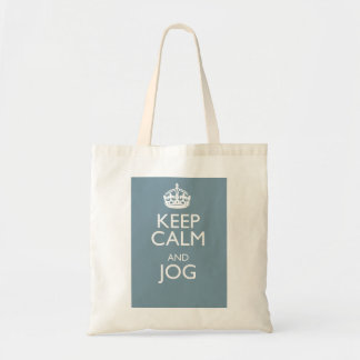 KEEP CALM AND JOG BUDGET TOTE BAG