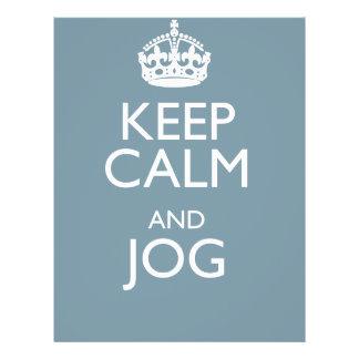 KEEP CALM AND JOG FLYER