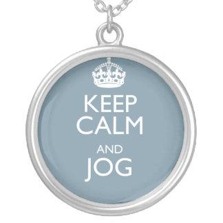 KEEP CALM AND JOG PENDANTS
