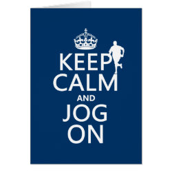 Greeting Card with Keep Calm and Jog On design