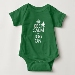 Baby Jersey Bodysuit with Keep Calm and Jog On design