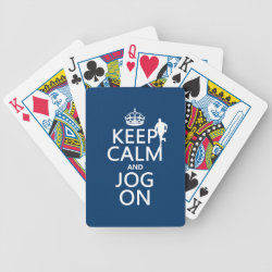 Playing Cards with Keep Calm and Jog On design