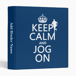 Avery Signature 1' Binder with Keep Calm and Jog On design