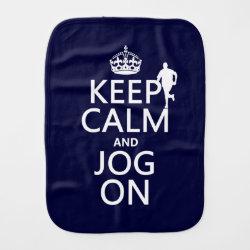 Burp Cloth with Keep Calm and Jog On design