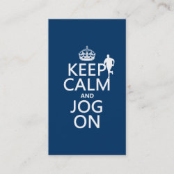 with Keep Calm and Jog On design