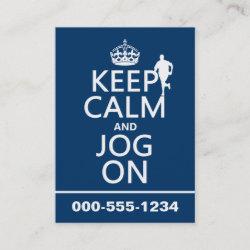 with Keep Calm and Jog On design