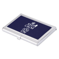 Business Card Holder with Keep Calm and Jog On design