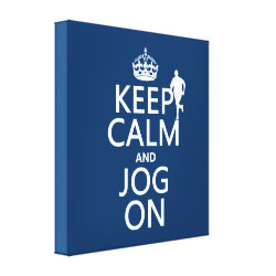 Premium Wrapped Canvas with Keep Calm and Jog On design