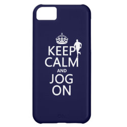 Case-Mate Barely There iPhone 5C Case with Keep Calm and Jog On design