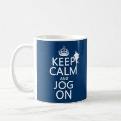 Classic White Mug with Keep Calm and Jog On design