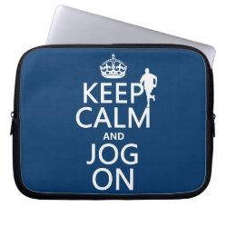 Neoprene Laptop Sleeve 10 inch with Keep Calm and Jog On design