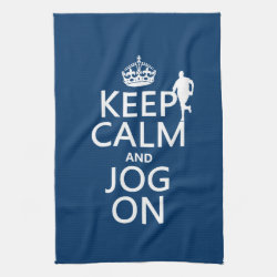 Kitchen Towel 16' x 24' with Keep Calm and Jog On design