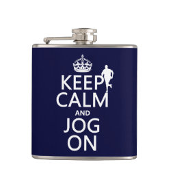 Vinyl Wrapped Flask, 6 oz. with Keep Calm and Jog On design