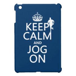 Case Savvy iPad Mini Glossy Finish Case with Keep Calm and Jog On design