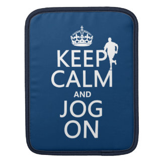 Keep Calm and Jog On iPad Sleeve