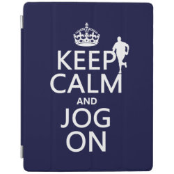 iPad 2/3/4 Cover with Keep Calm and Jog On design