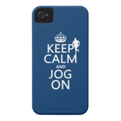 Case-Mate iPhone 4 Barely There Universal Case with Keep Calm and Jog On design