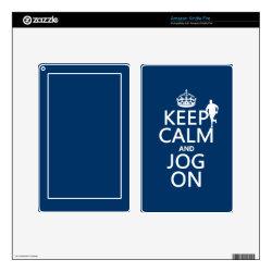 Amazon Kindle DX Skin with Keep Calm and Jog On design