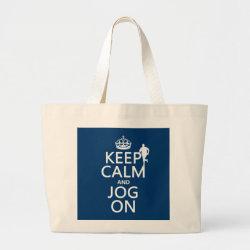 Jumbo Tote Bag with Keep Calm and Jog On design