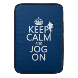 Macbook Air Sleeve with Keep Calm and Jog On design