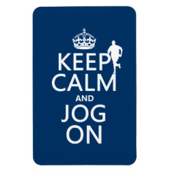 4'x6' Photo Magnet with Keep Calm and Jog On design